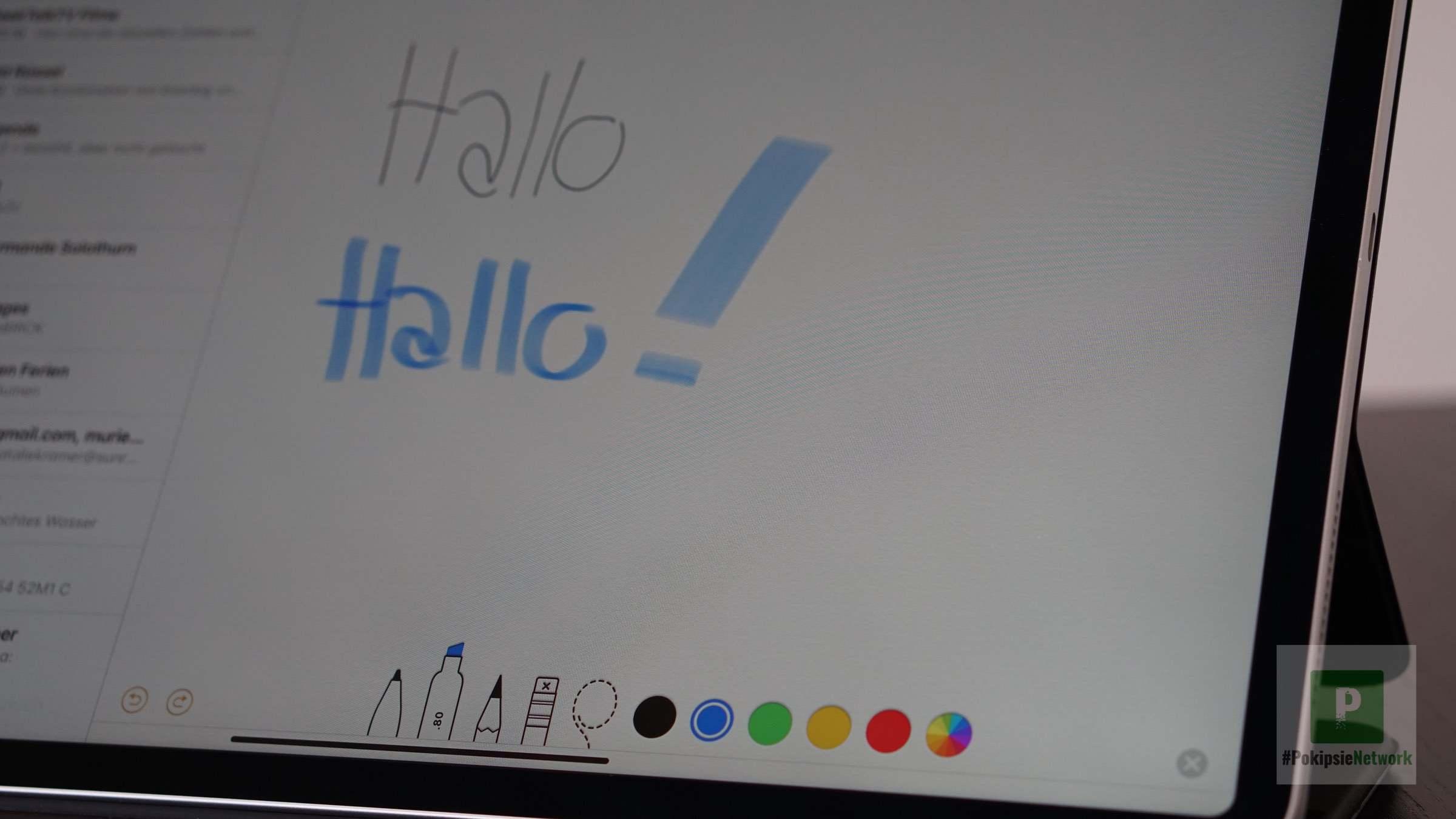 Apple Notizen einfach mit dem Stift oder über die Tastatur eingeben