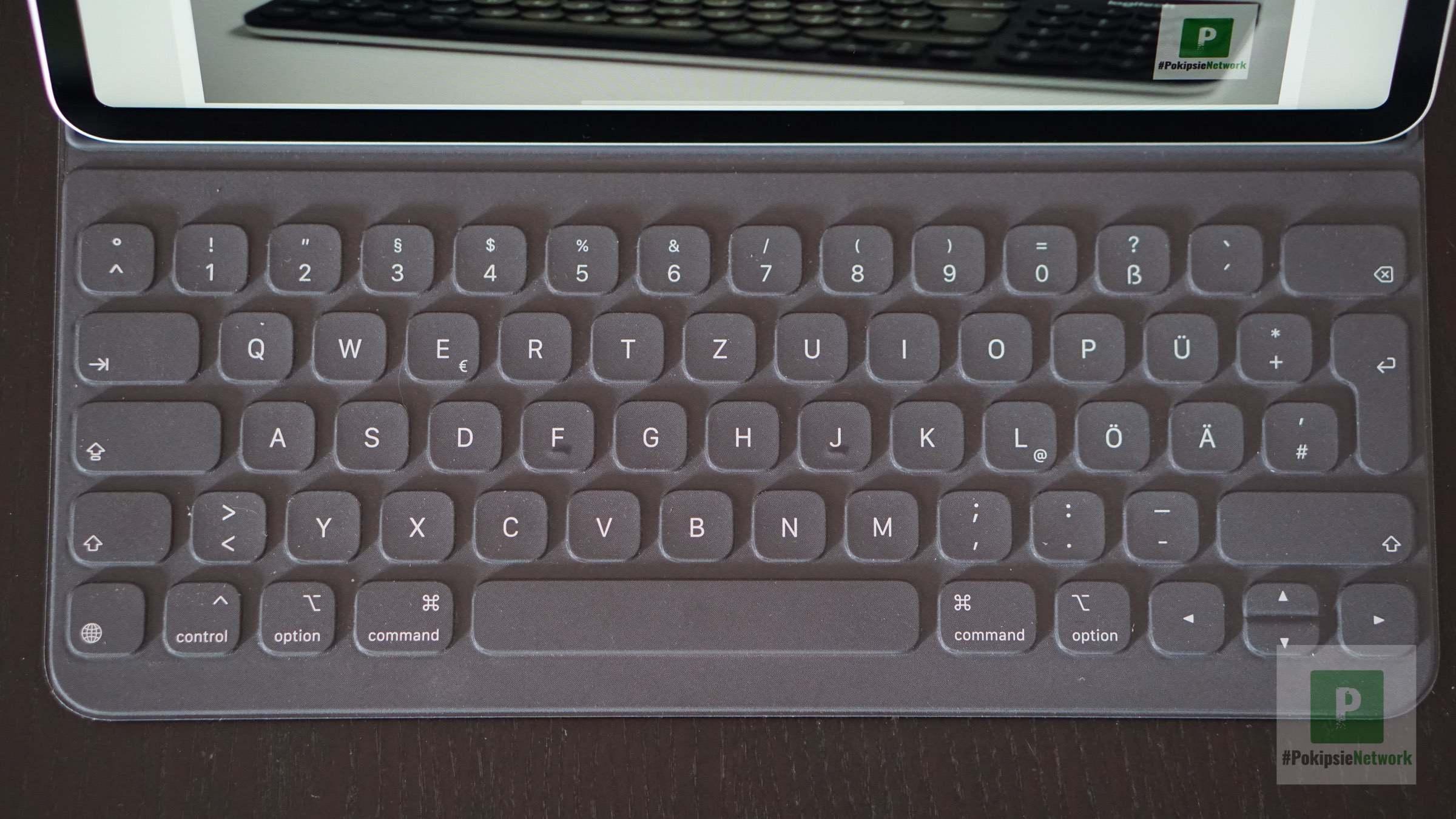 Die Tastatur von oben