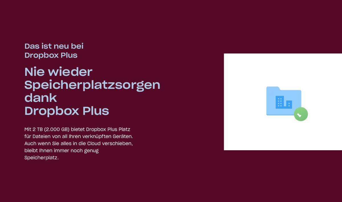 Dropbox Plus – Jetzt mit 2 TB Speicherplatz dafür auch teurer