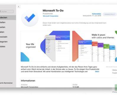Microsoft To-Do: Endlich auch auf dem Mac