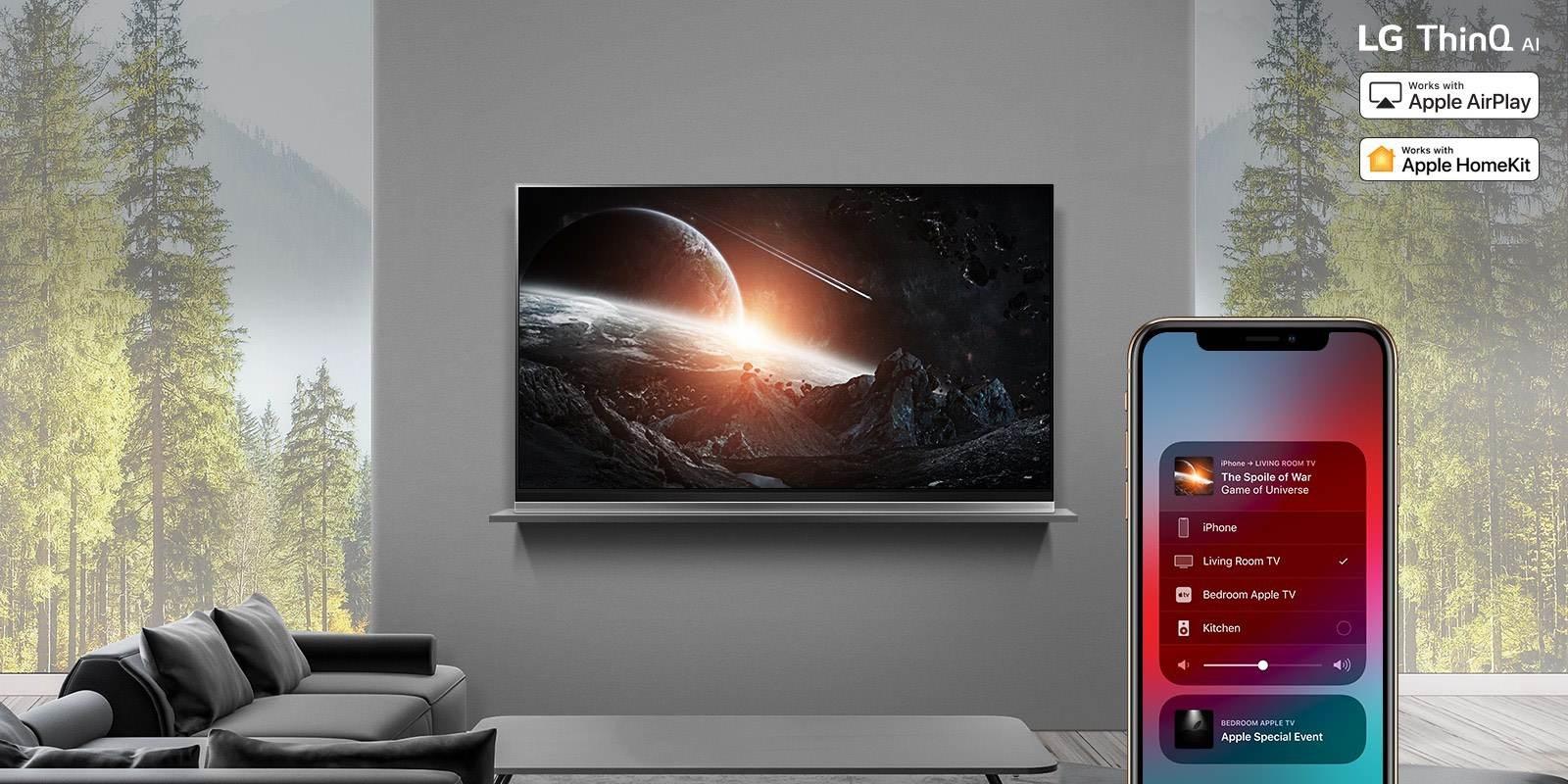 LG Fernseher: Update bringt Apple HomeKit und AirPlay 2