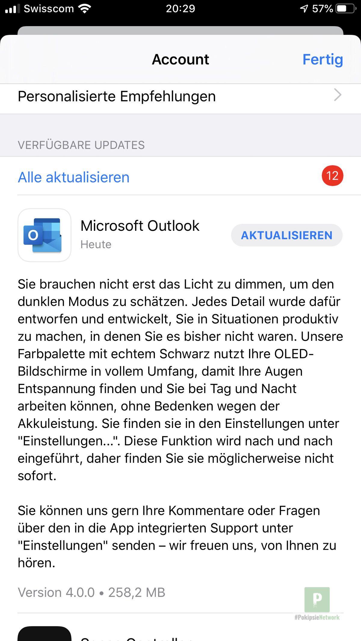 Microsoft Outlook App: Dark Mode und andere Änderungen