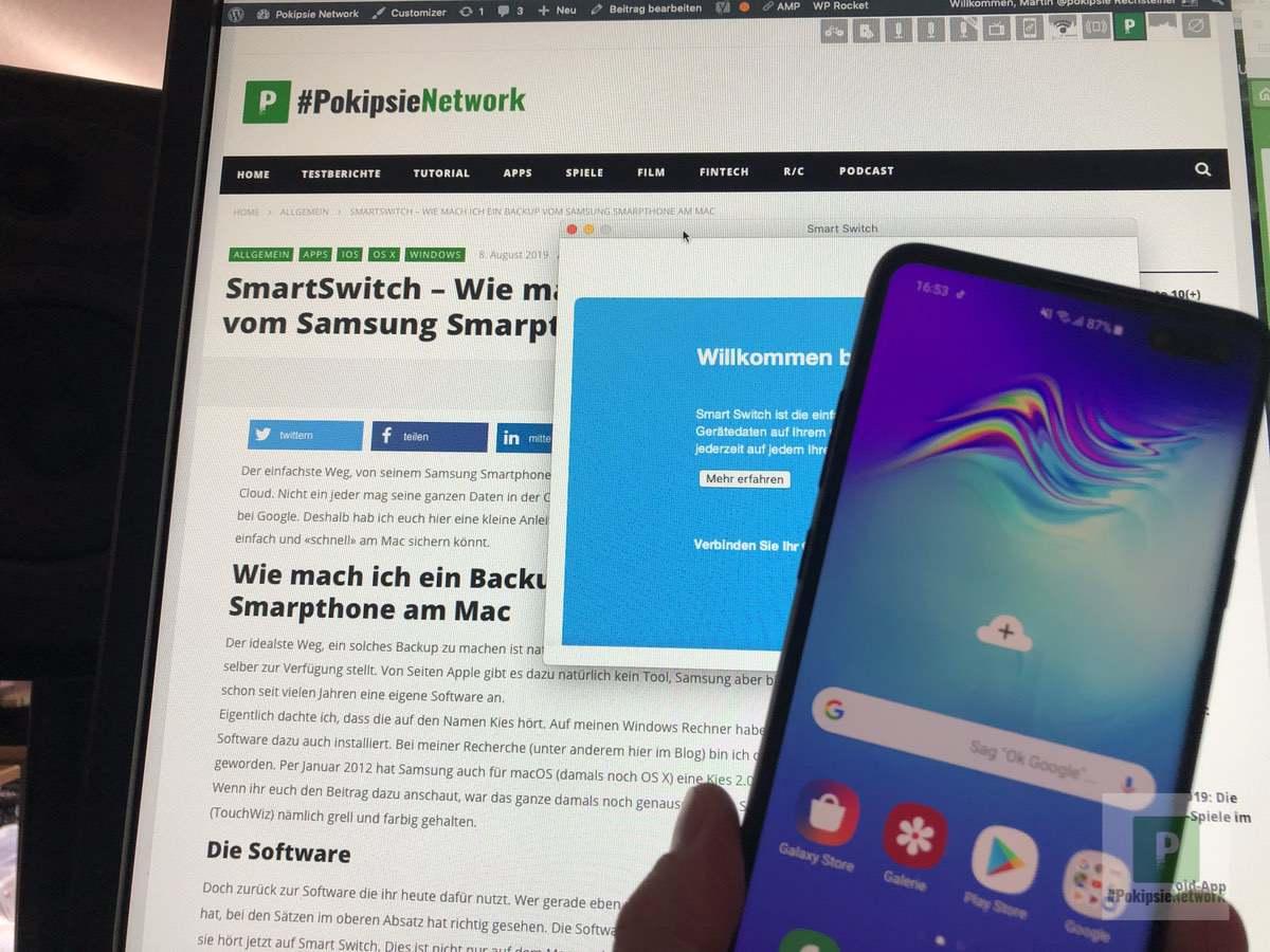 Smart Switch – Backup vom Samsung Smarpthone am Mac