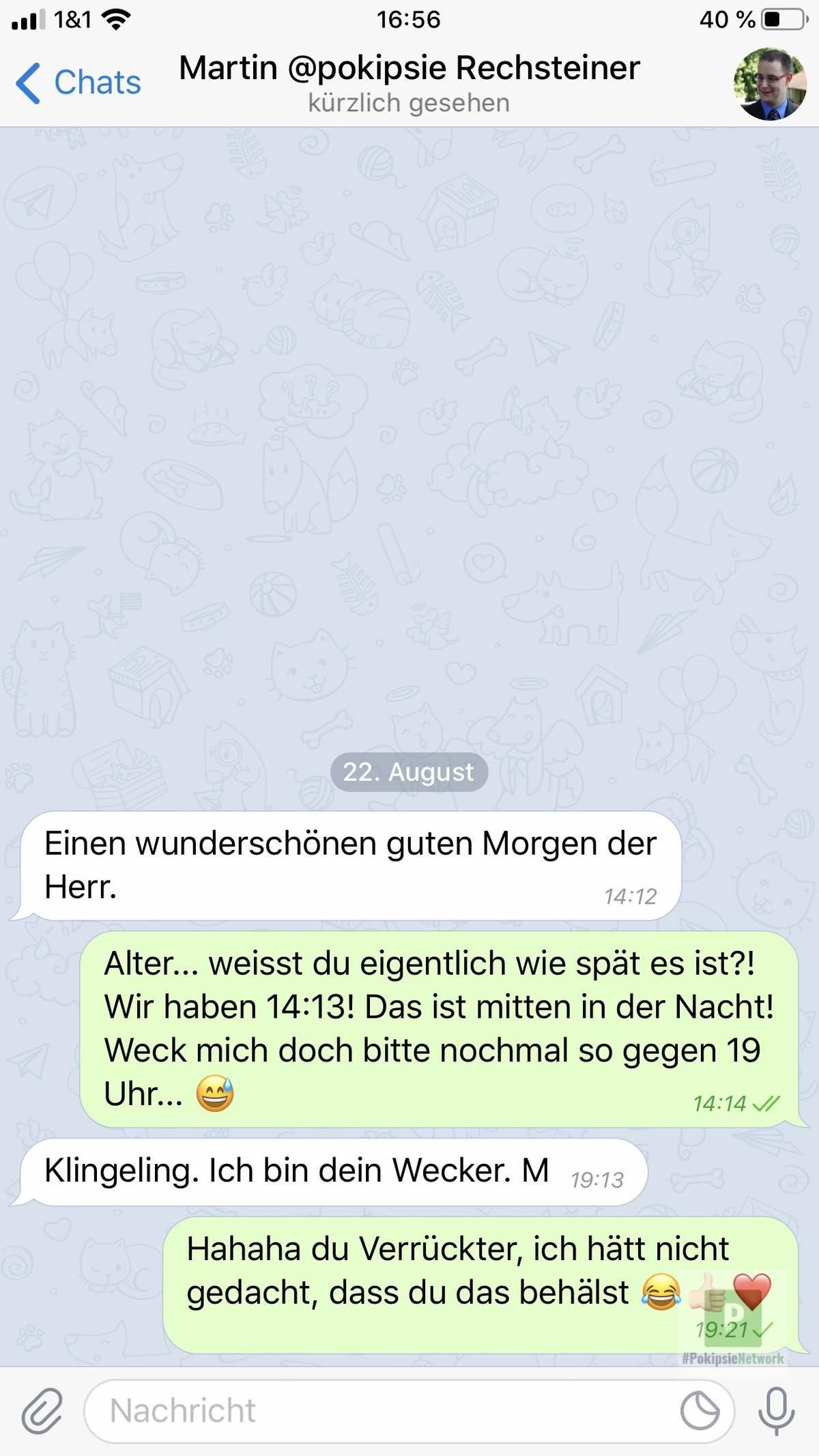 Telegram Chatfenster
