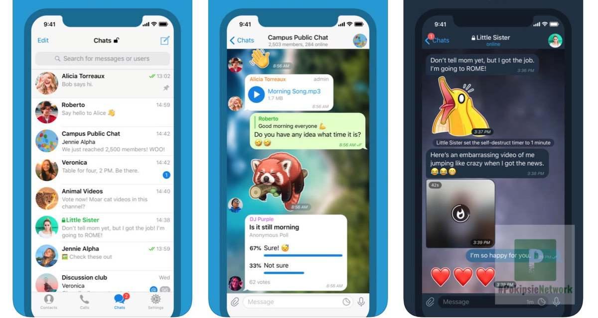Telegram Messenger Oberfläche