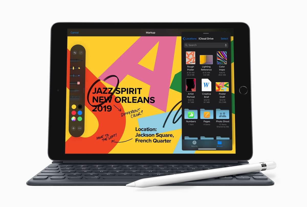 iPad der 7. Generation wächst auf 10.2″