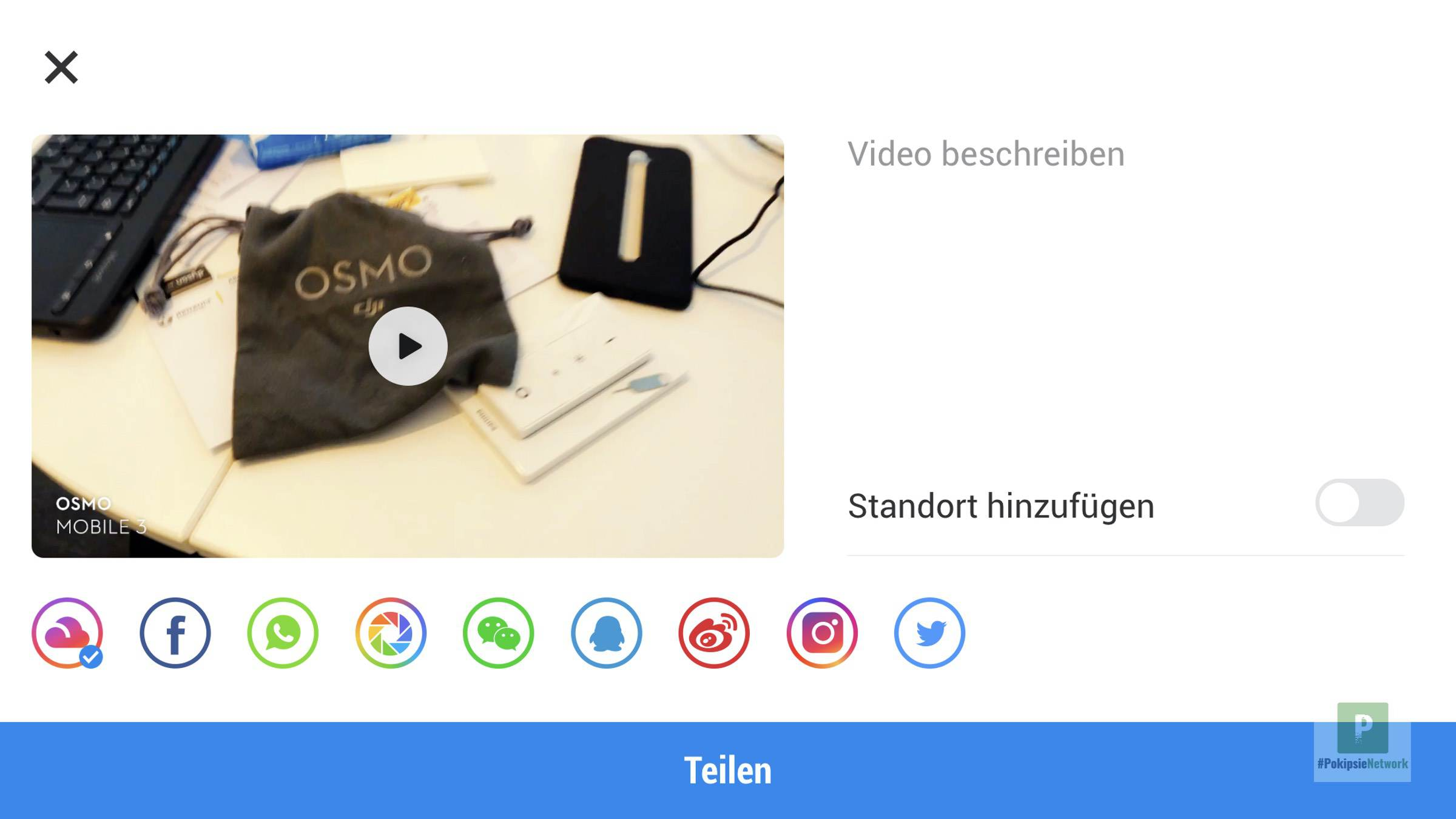 Der Storie-Modus im Osmo Mobile 3