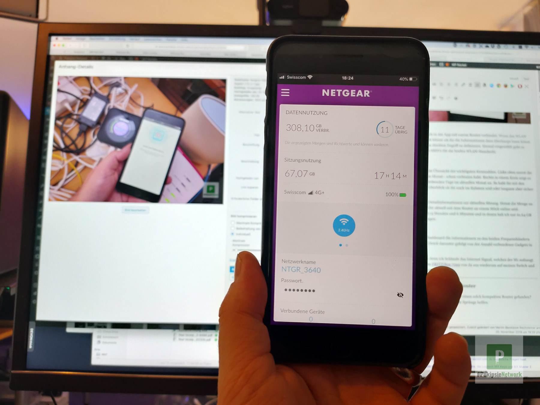 Netgear Nighthawk M1 - Dashboard in der App