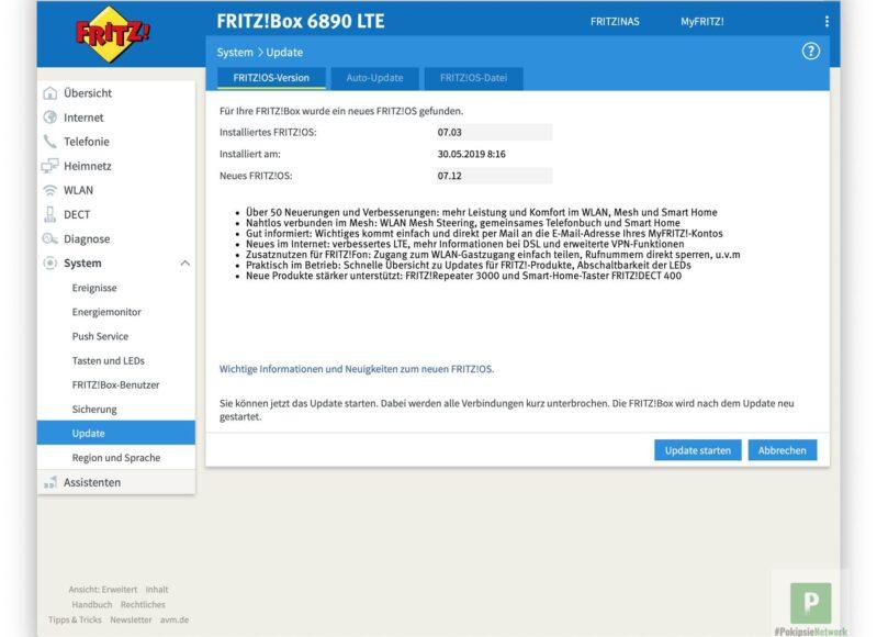 FRITZBox 7590 – Update auf FRITZOS 7-12