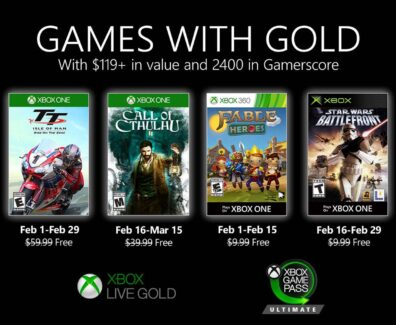 Games with Gold im Februar 2020: TT Isle of Man, Star Wars Battlefront und Fable Heroes