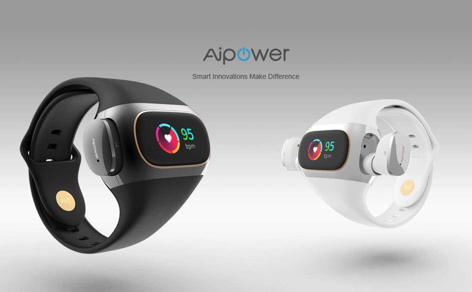 Aipower Wearbuds: Kopfhörer am Handgelenk als Fitnessarmband