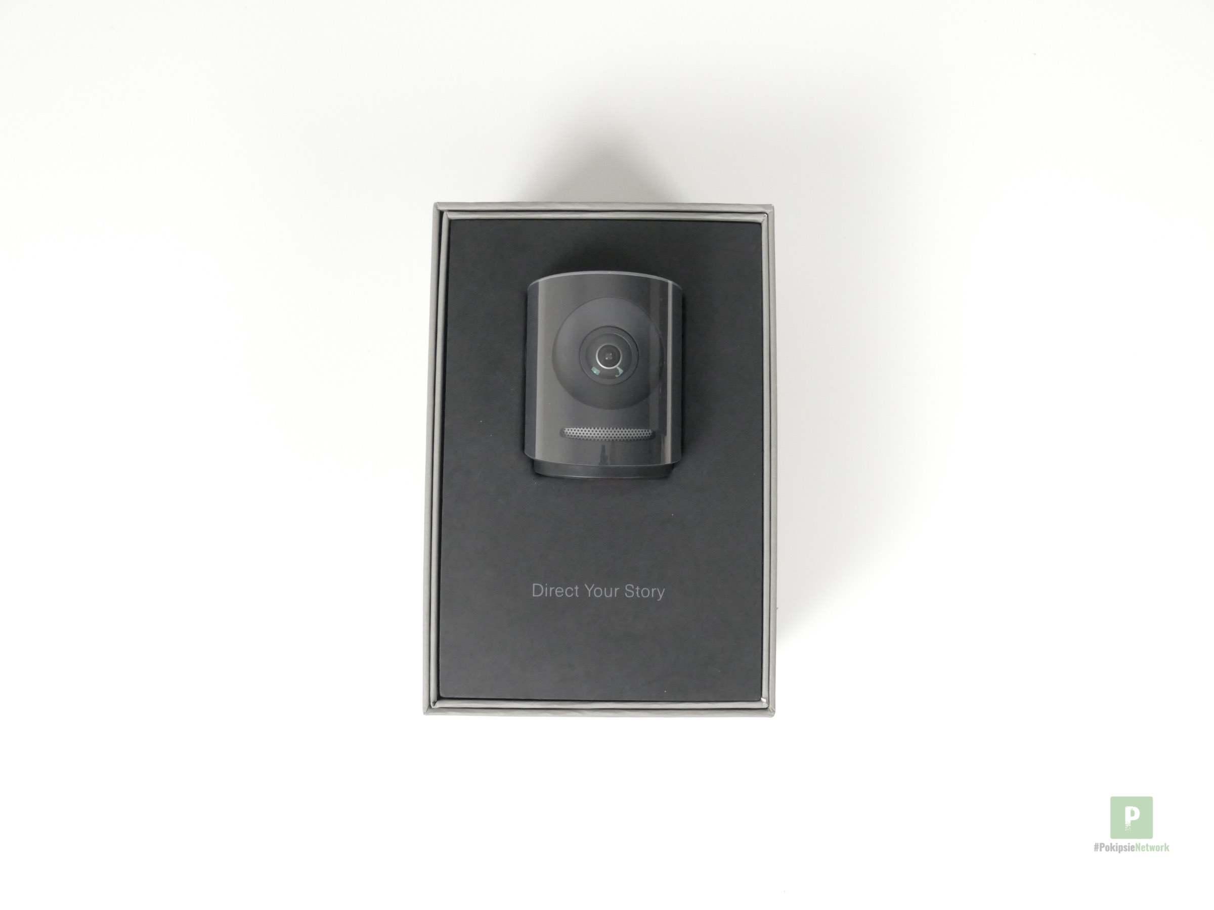 Die Kamera in der Verpackung