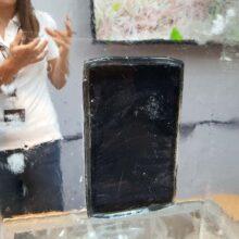 Crosscall Tablet im Eis
