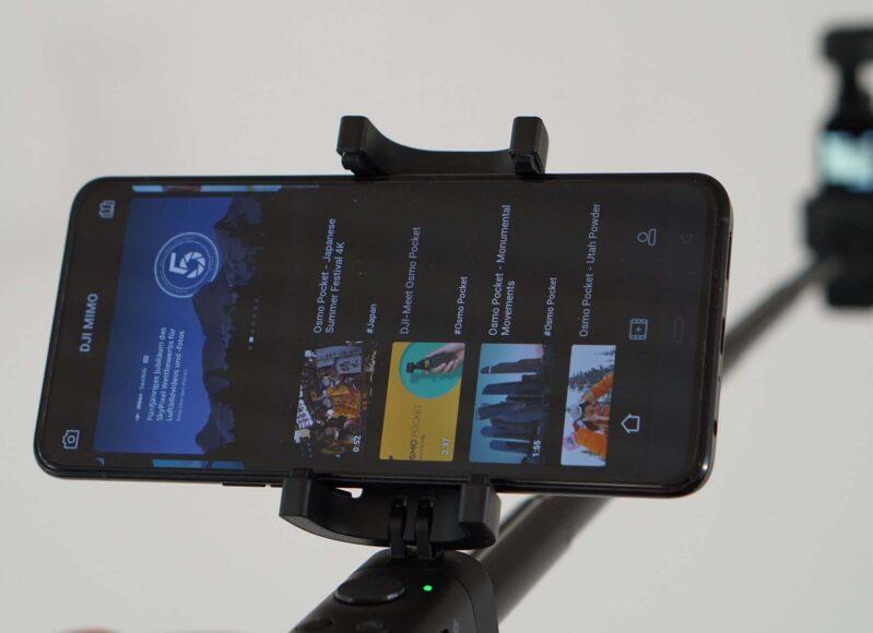 Smartphone montiert und bereit für den Einsatz