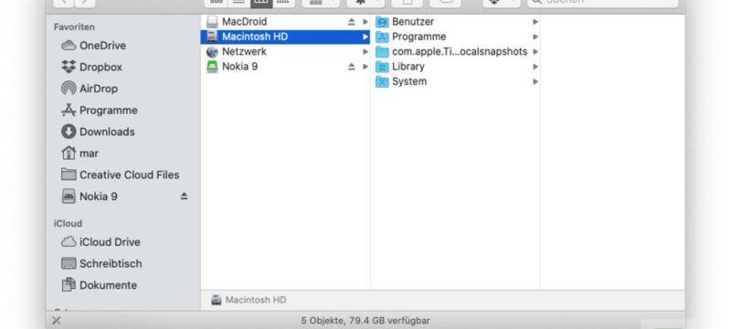 Daten vom Android auf den Mac übertragen