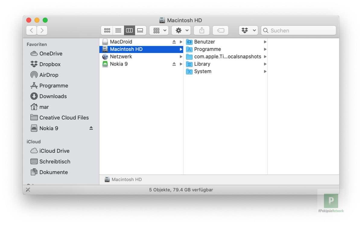 MacDroid – Daten vom Android auf den Mac übertragen