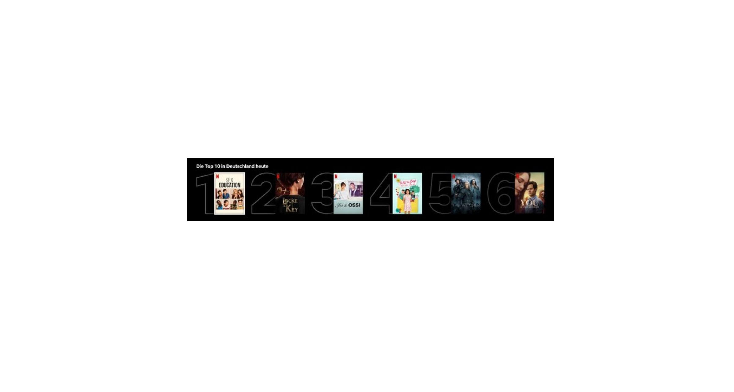 Netflix Top-10-Listen für alle Länder