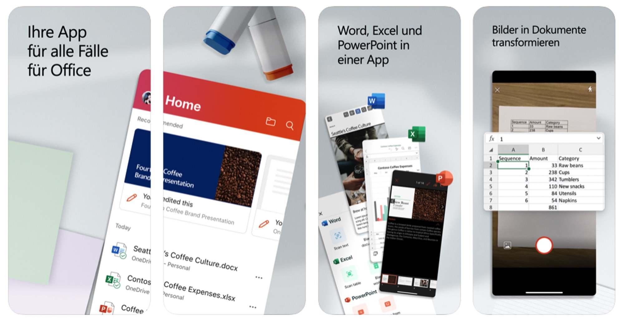 Neu auch fürs iPhone – Microsoft Office App