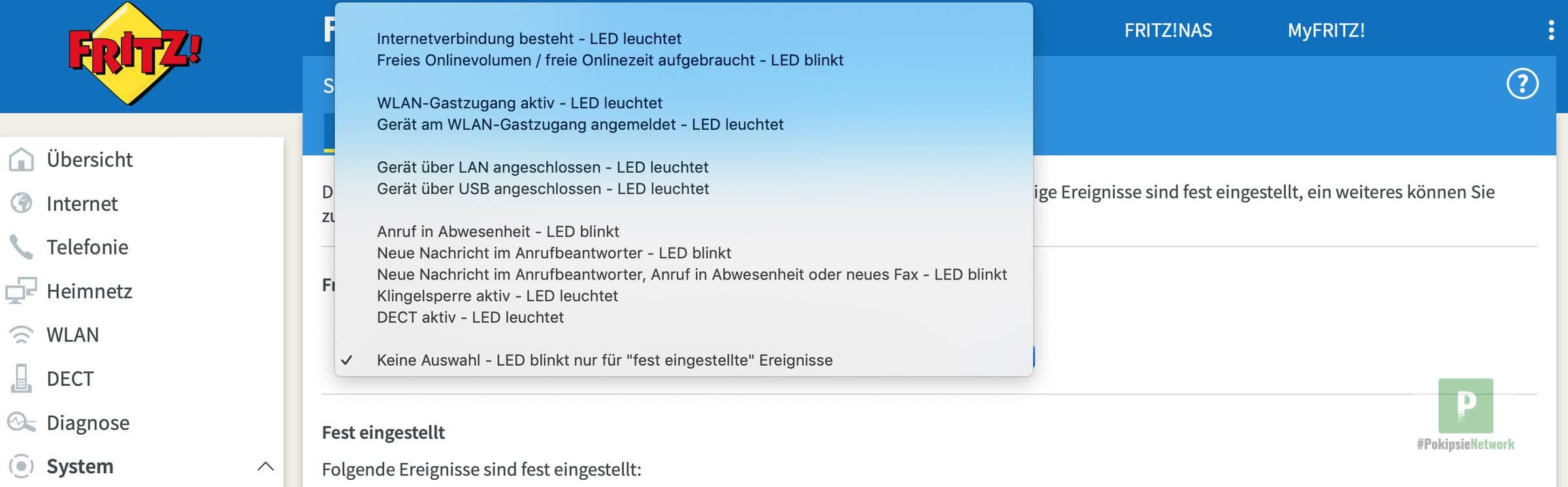 Info-LED-Anzeige