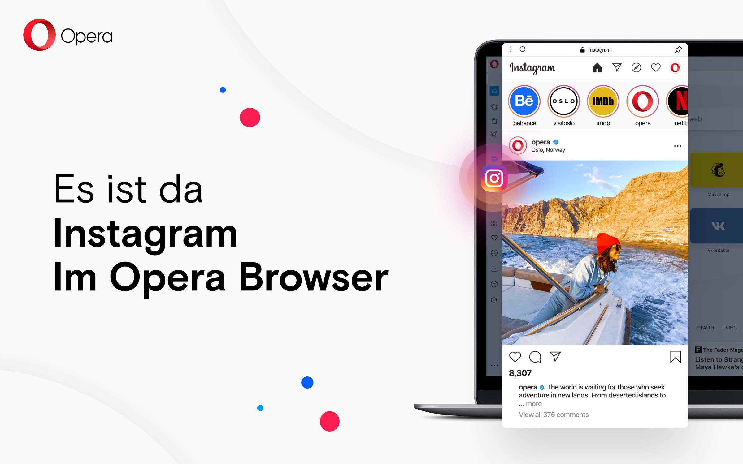 Opera bringt Instagram auf den Desktop