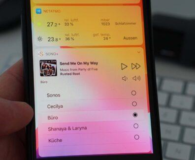 Widget zur einfachen Sonos Steuerung