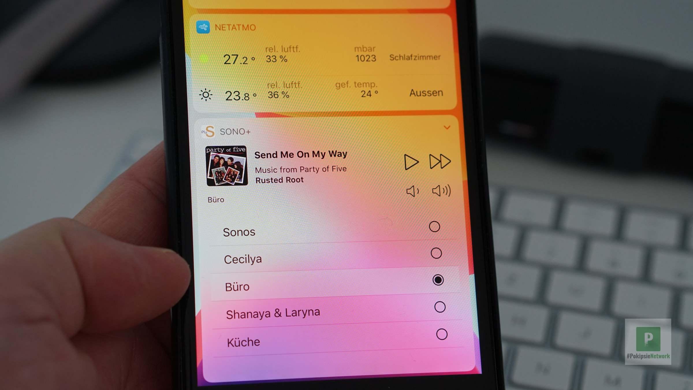 Sono+ – Widget zur einfachen Sonos Steuerung
