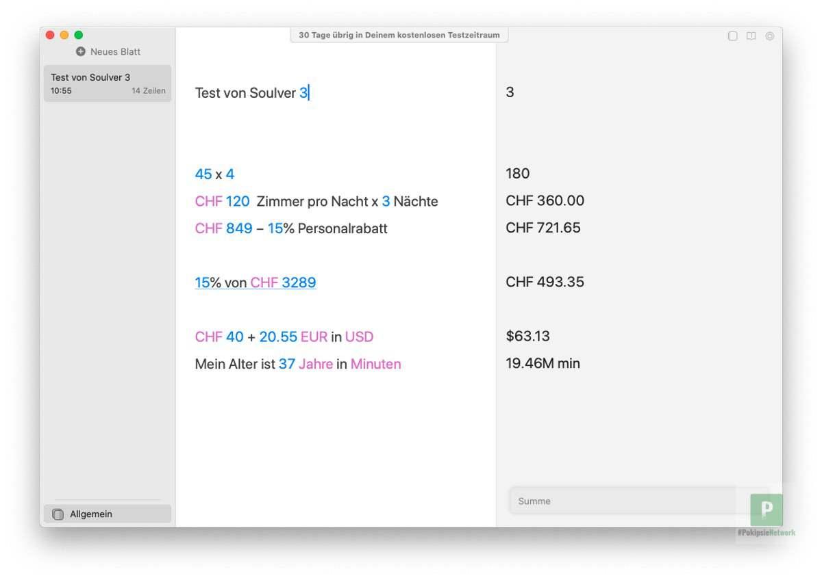 Soulver 3 – Taschenrechner für macOS mit neuen Funktionen