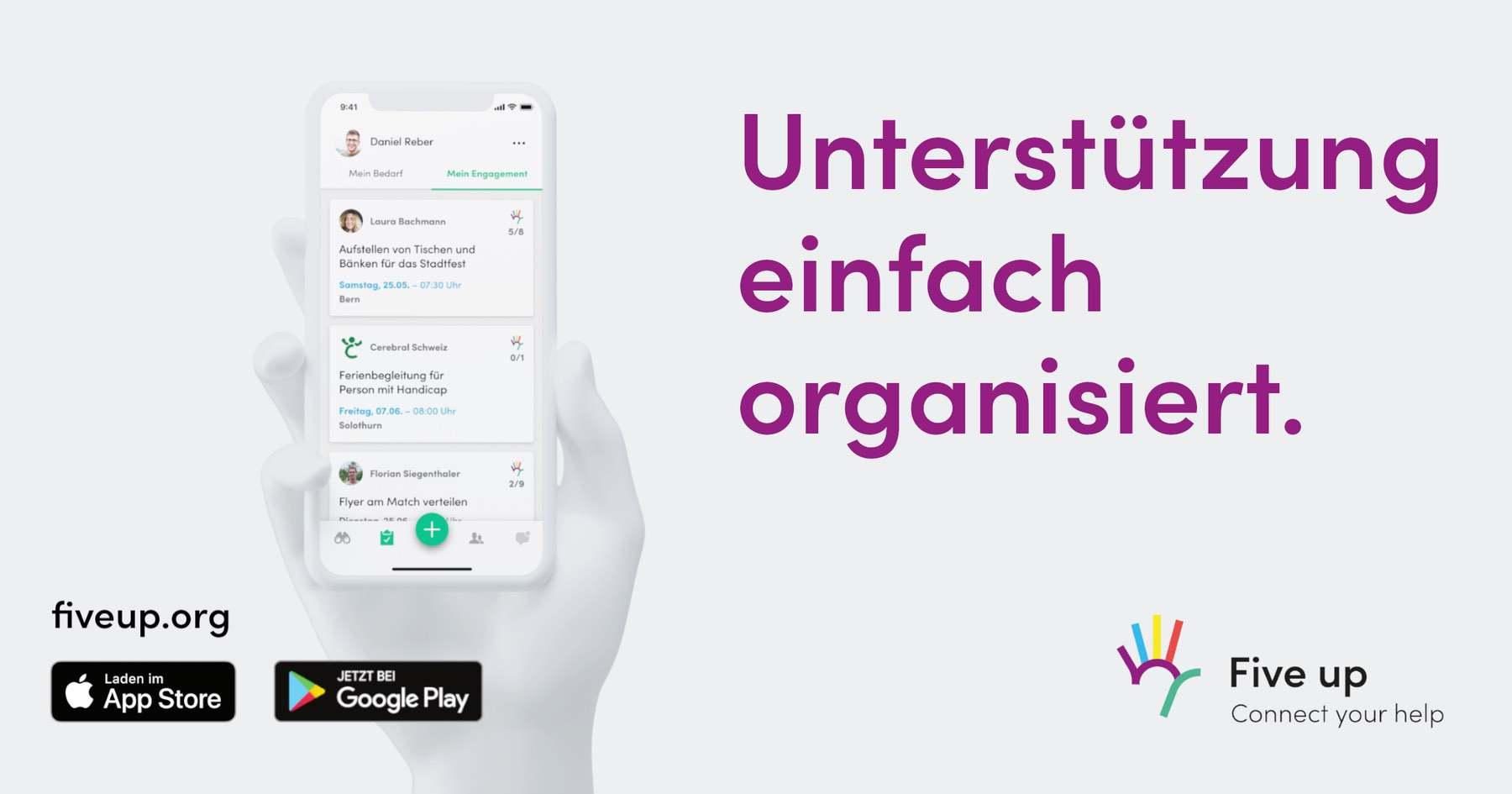 «Five up  – Connect your Help» was wenn die App anders genutzt wird als man ursprünglich denkt?