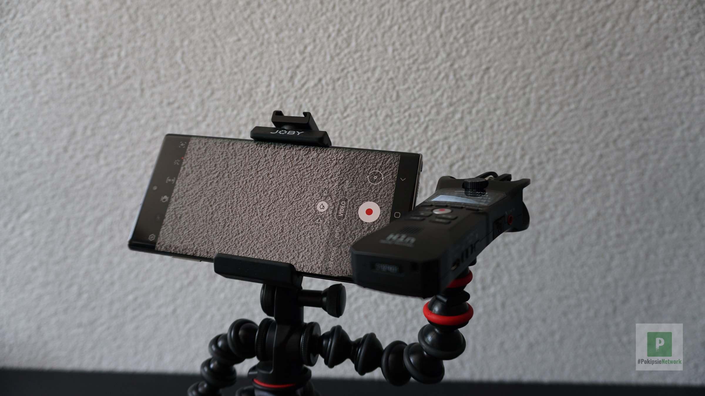 Kombiniert genutzt bei Video Aufnahmen mit dem Smartphone