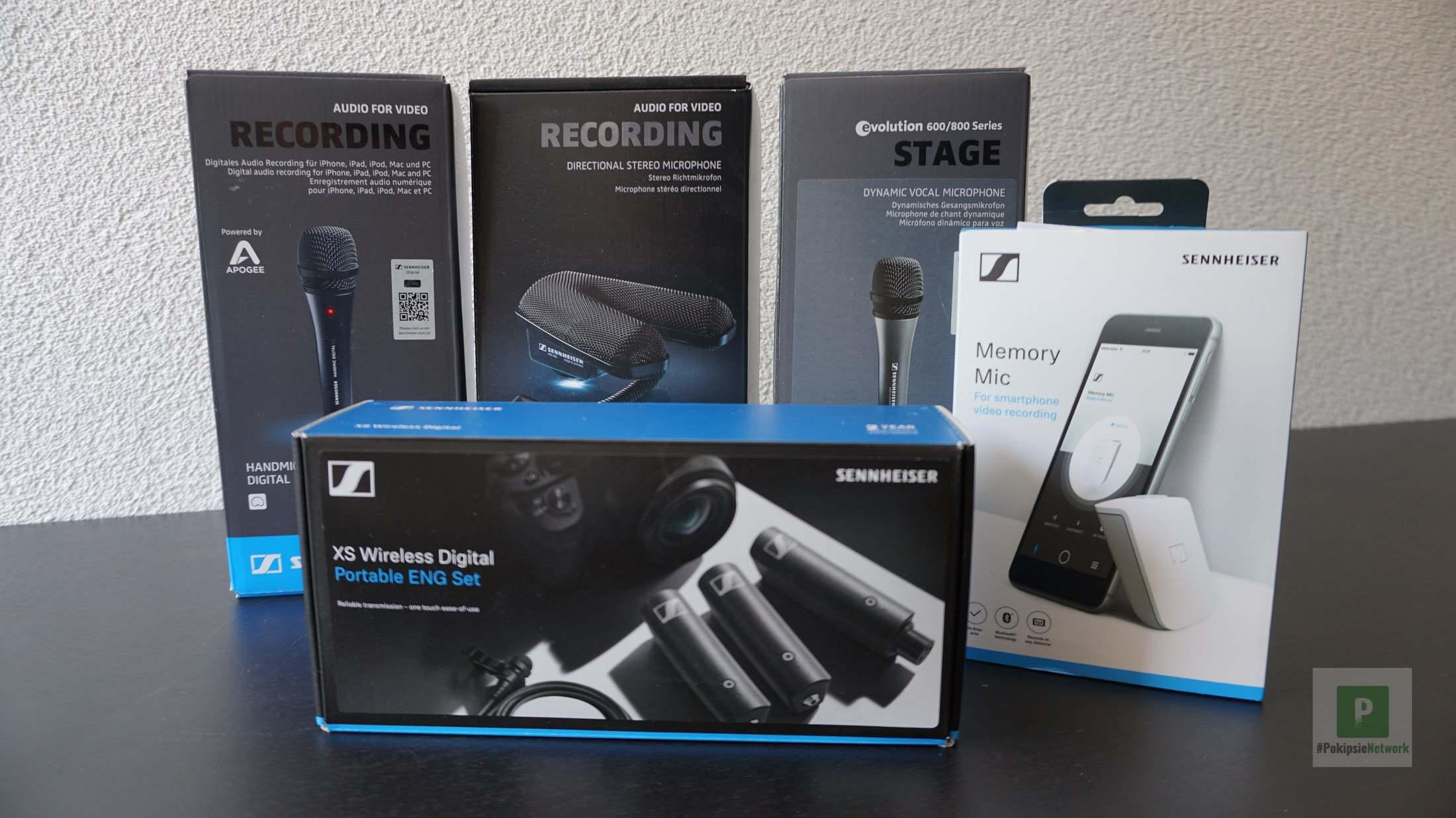 Sennheiser Mikrofon Gadgets – Handmikrofon, Funkstrecke und VLOG Lösung