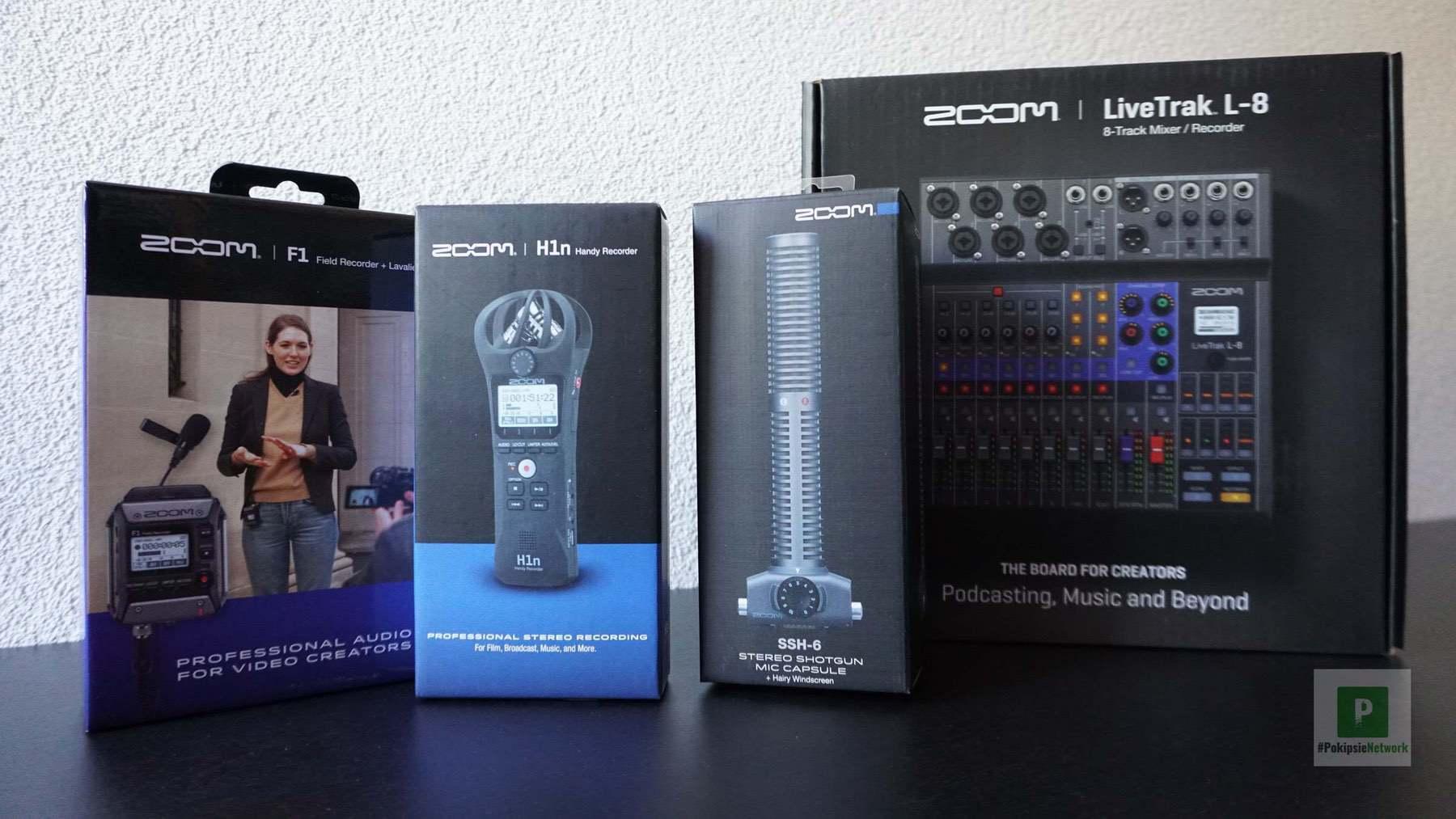 Zoom Gadgets – Field Recorder, Shotgun Mikrofon und Podcaster-Mischpult