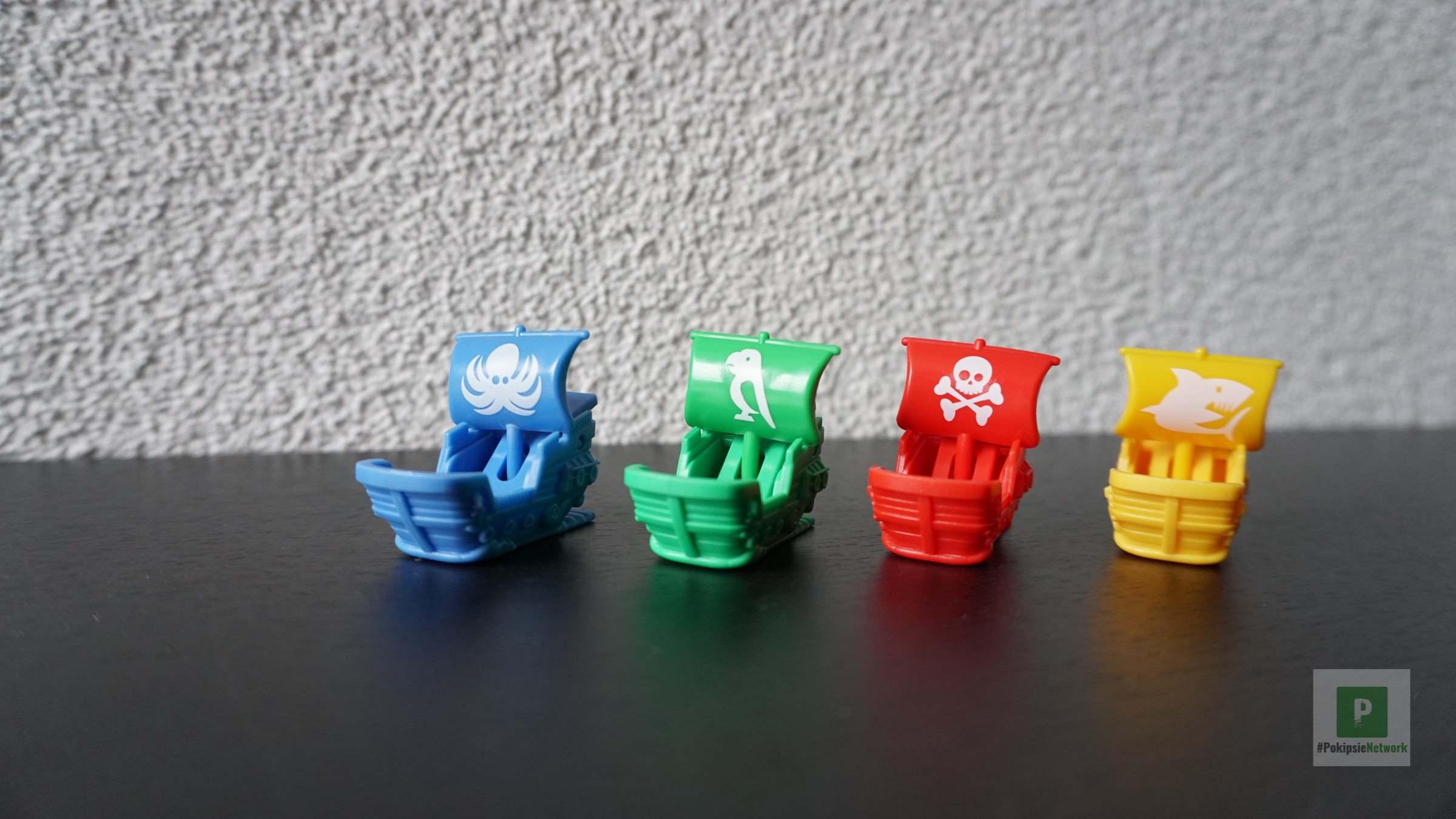 Die vier Spielfiguren