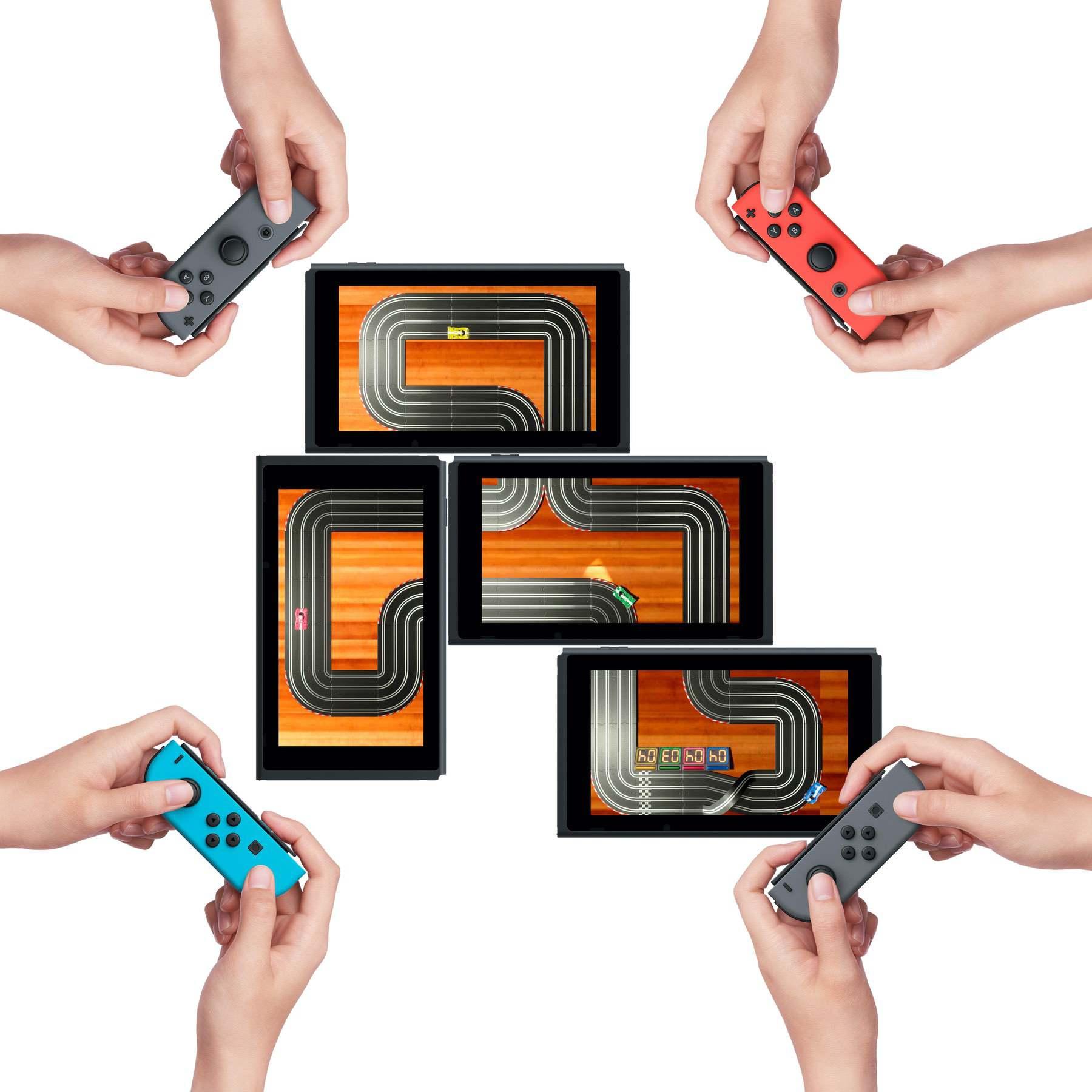 Zusammen spielen mit bis zu vier Konsolen