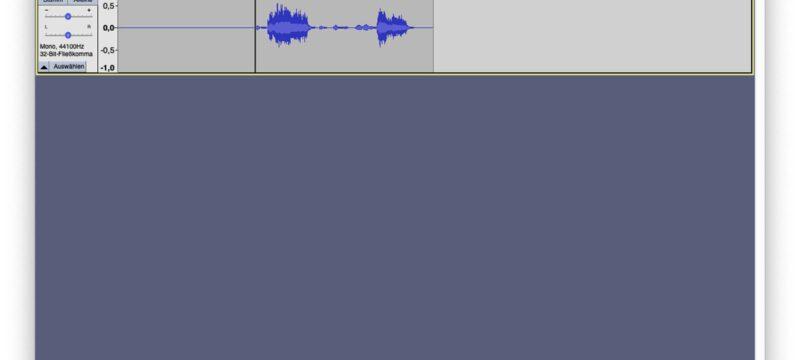 Audacity – Endlich wieder stabil podcasten