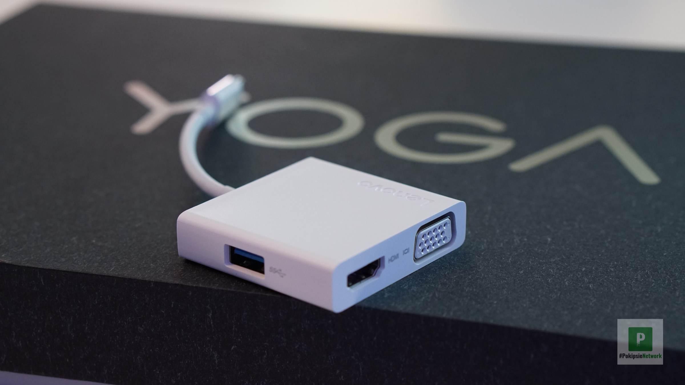 Der zusätzliche (optional erhältliche) USB-C-Hub