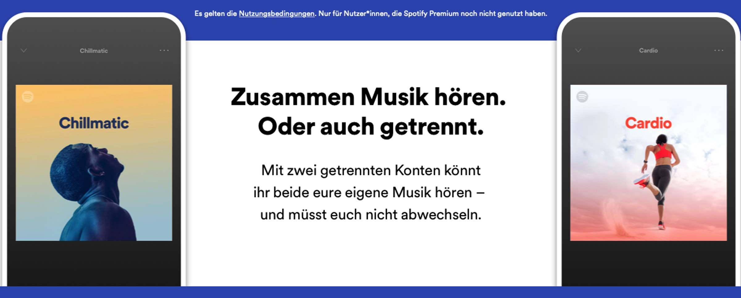 Spotify Premium Duo – Das «Päärchen oder WG»-Abo