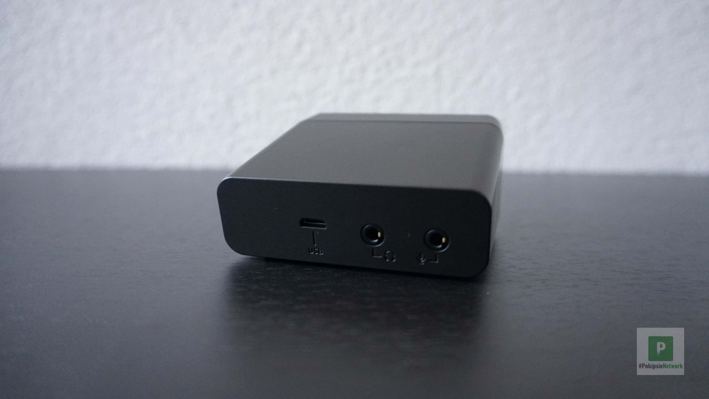 Rückansicht vom Audio-Device
