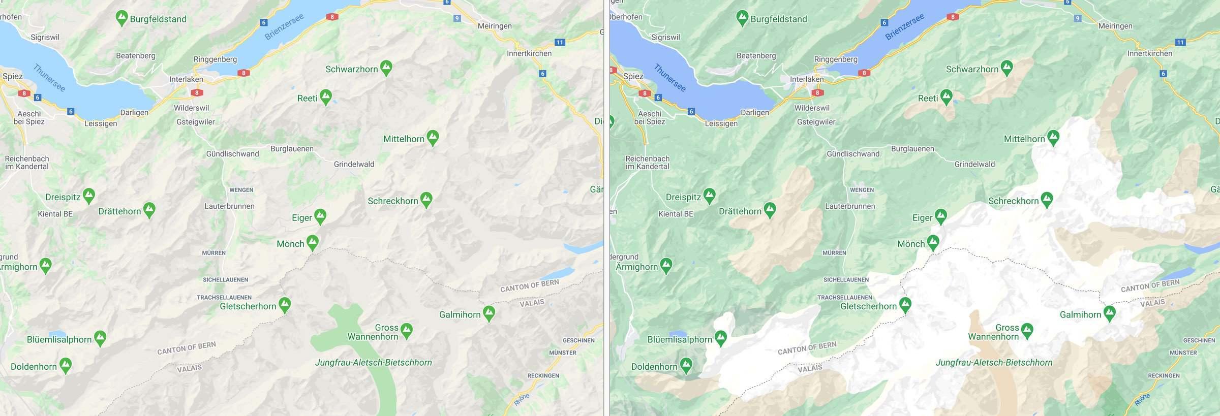 Google Maps – Optisch aufgemotzt