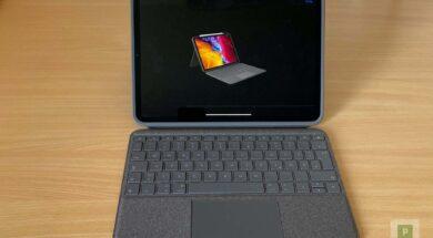 iPad Case mit Tastatur und Trackpad