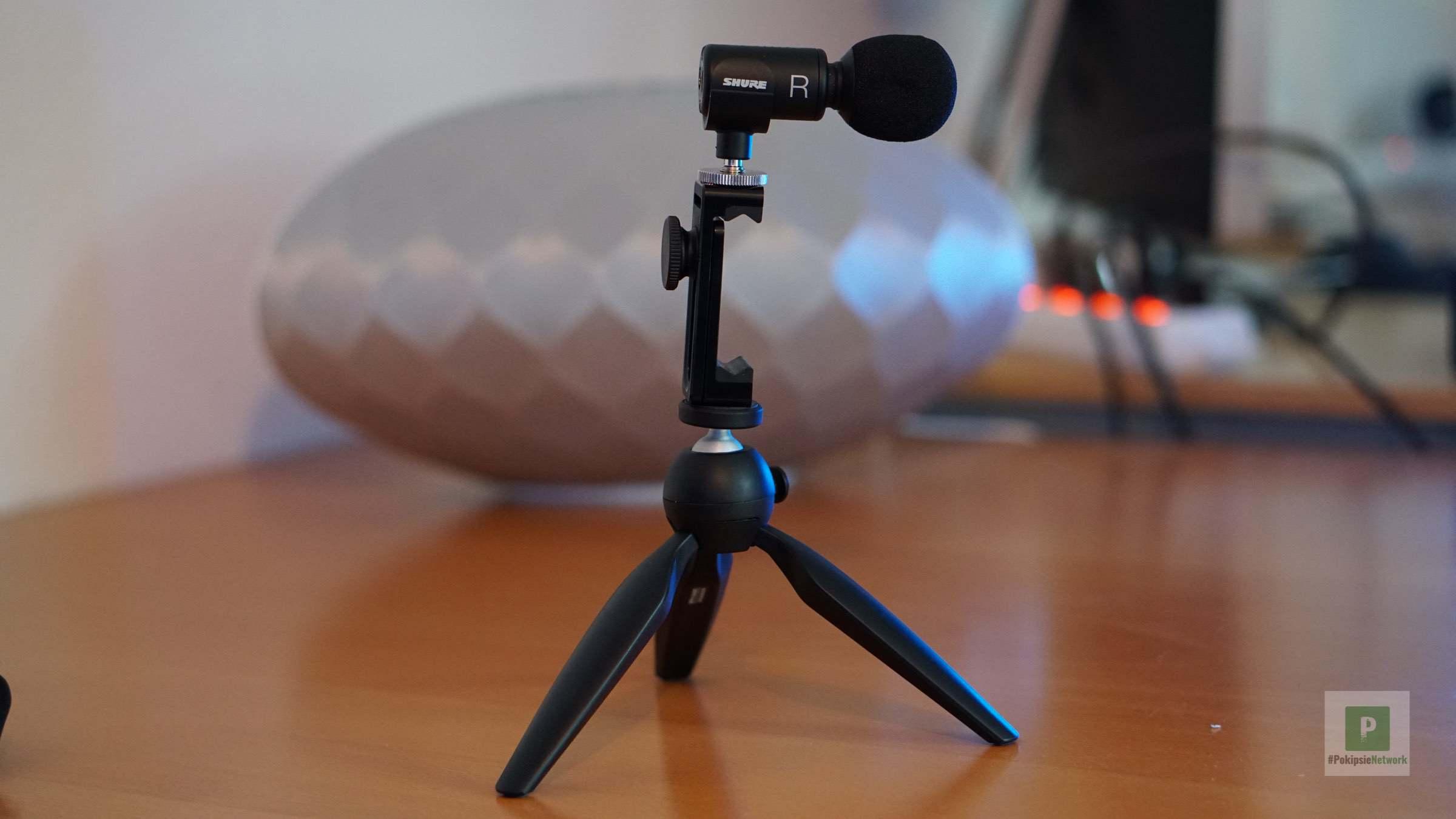 Das Mikrofon auf dem Ständer