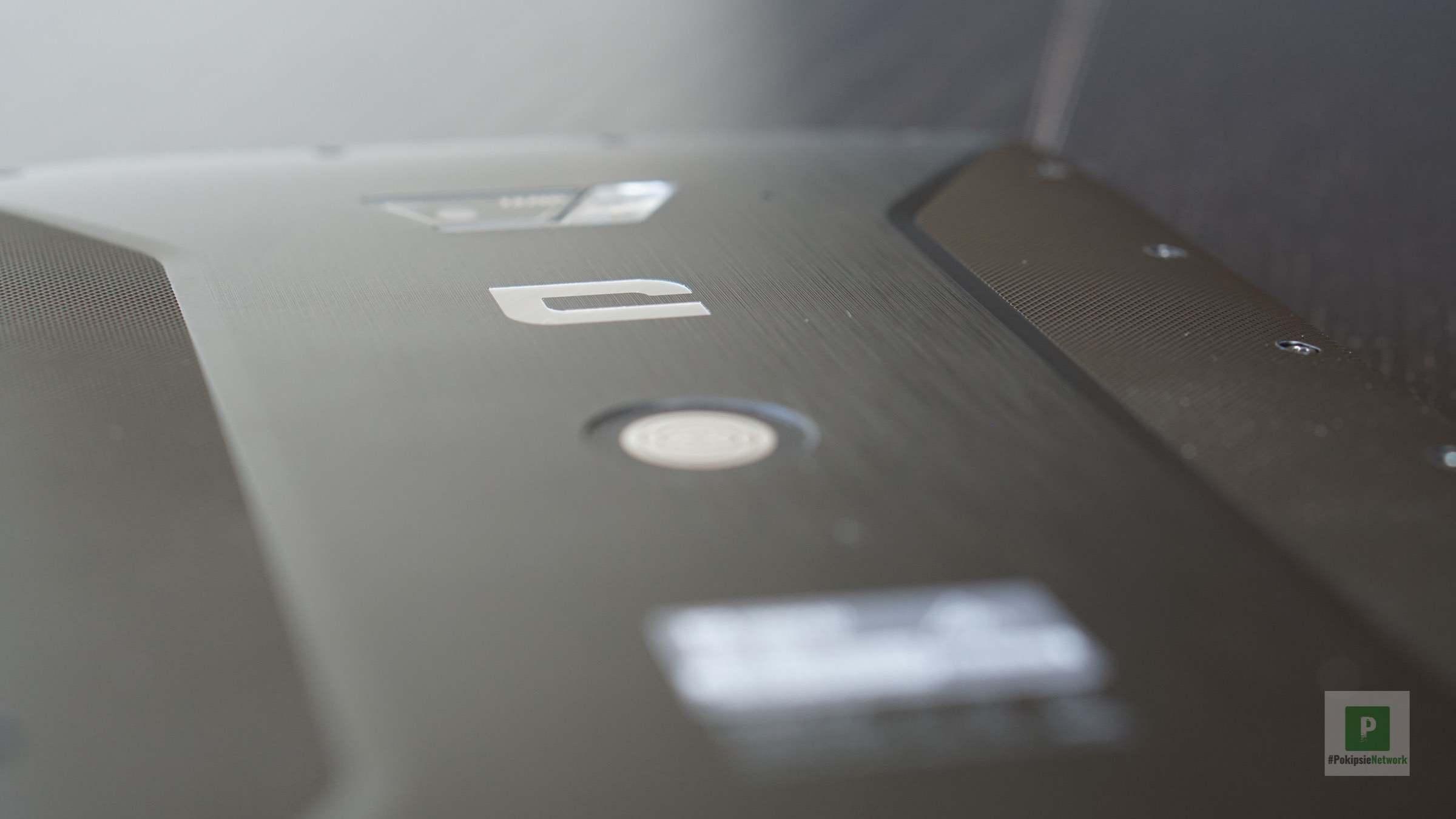 Die Rückseite vom Tablet