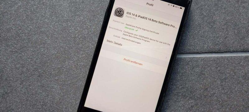Die Apple Beta Entfernen