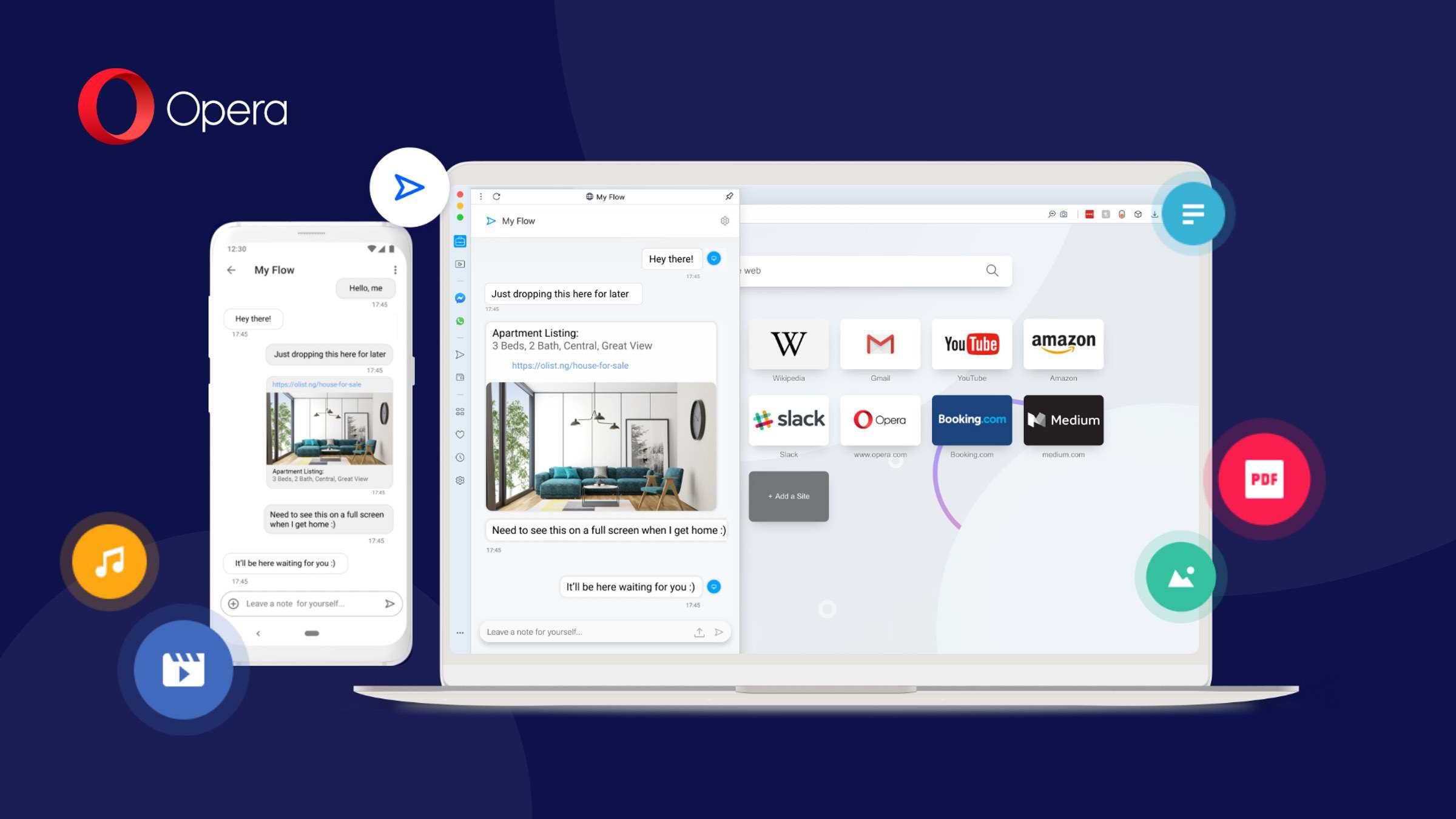 Opera für Android 60+ – Neue Synchronisation zwischen PC und Android Smartphone