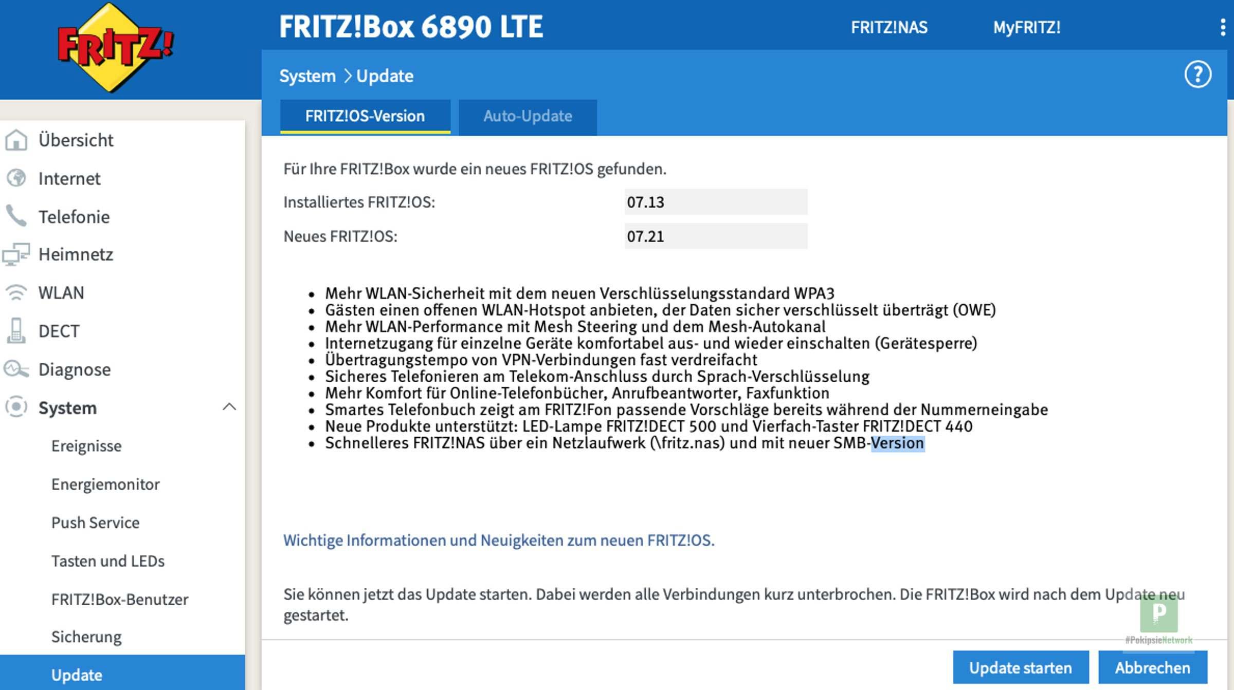 FRITZ!OS 7.21