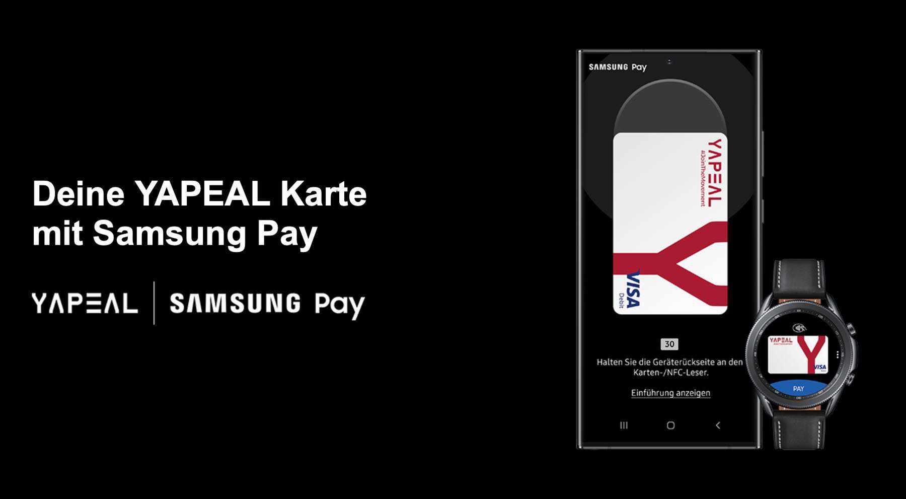 YAPEAL bietet Apple Pay und Samsung Pay für alle #Yapster