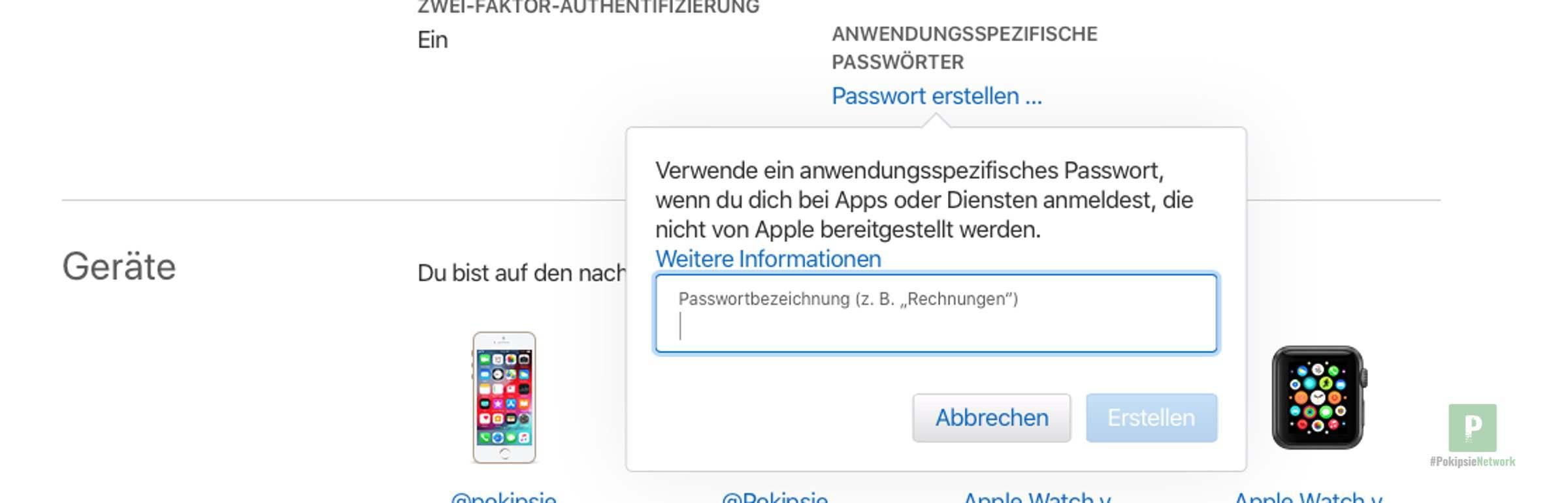 Anwenderspezifisches Passwort erstellen