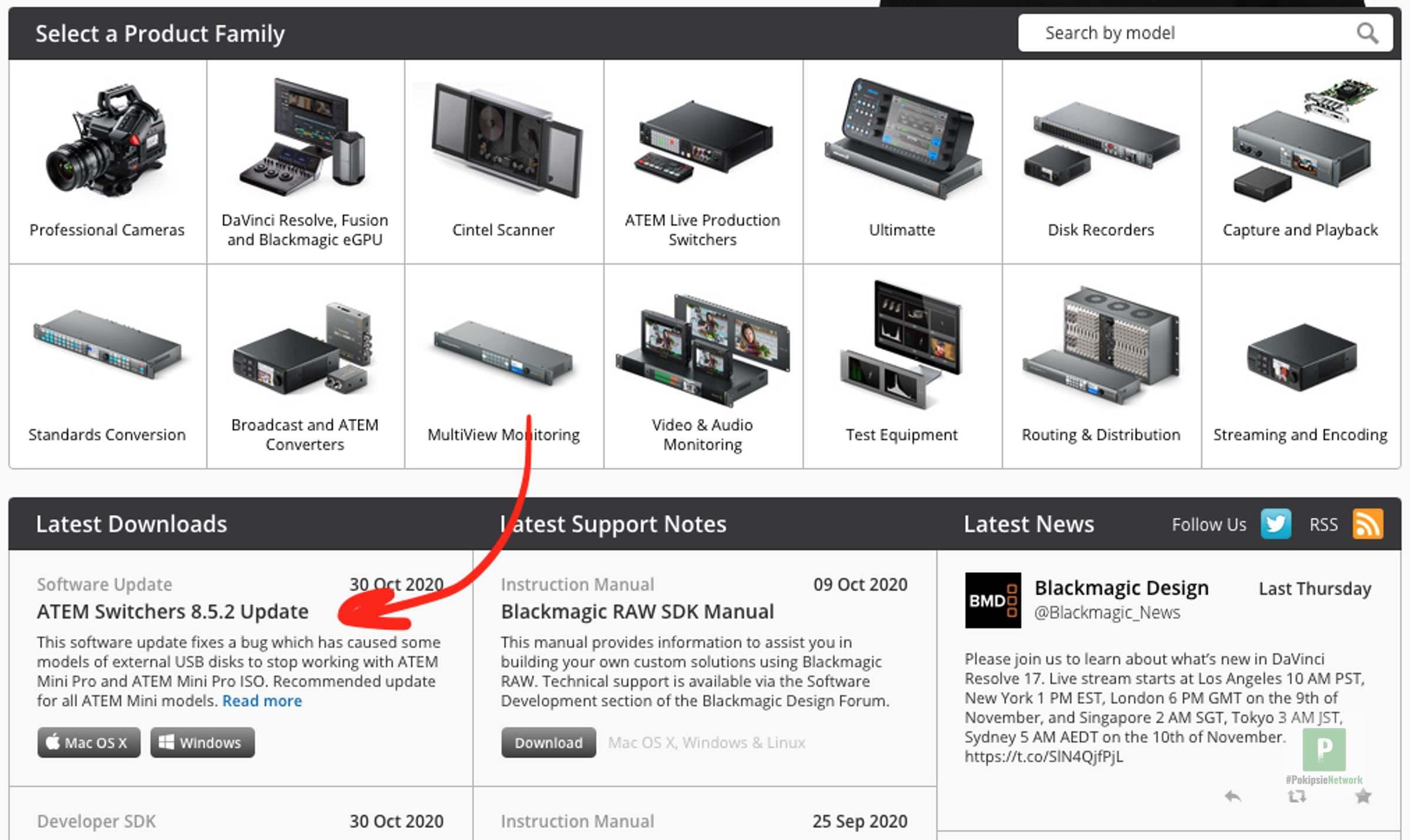 Blackmagic ATEM Mini Firmware Update 8.5.1