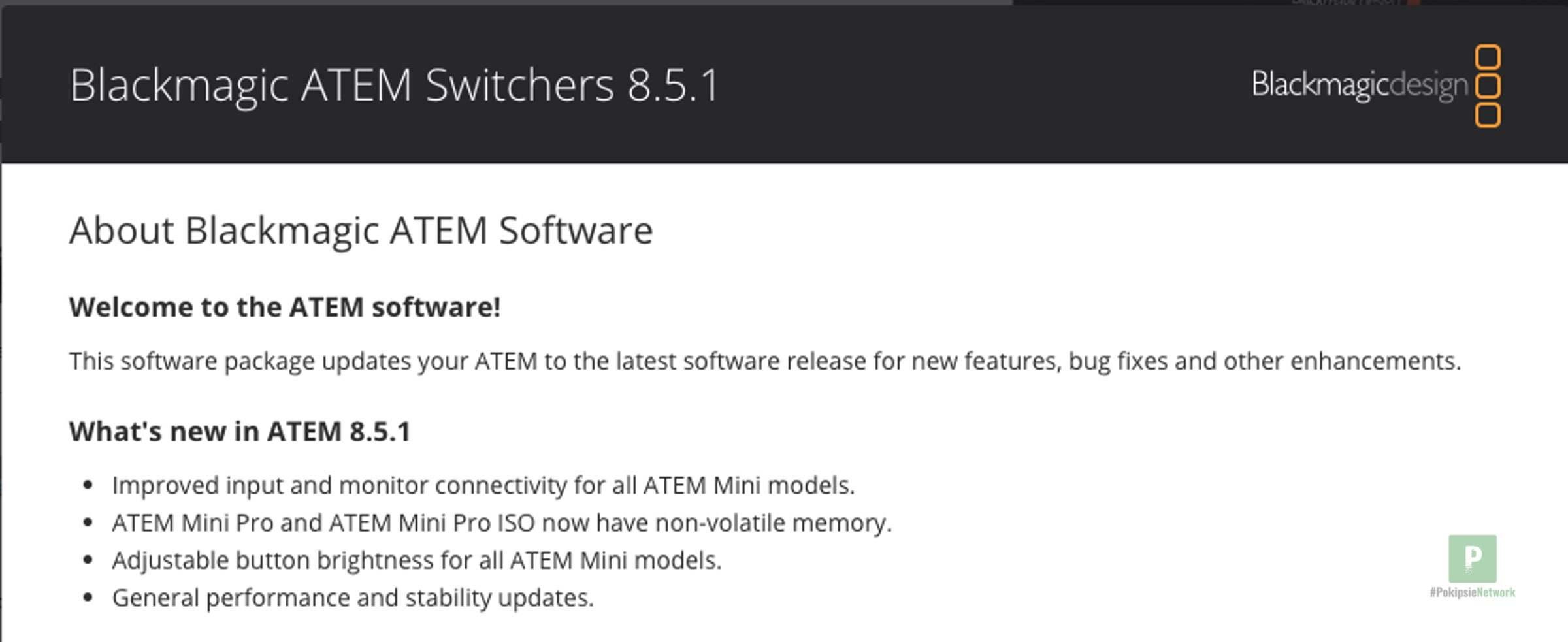Blackmagic ATEM Mini Update