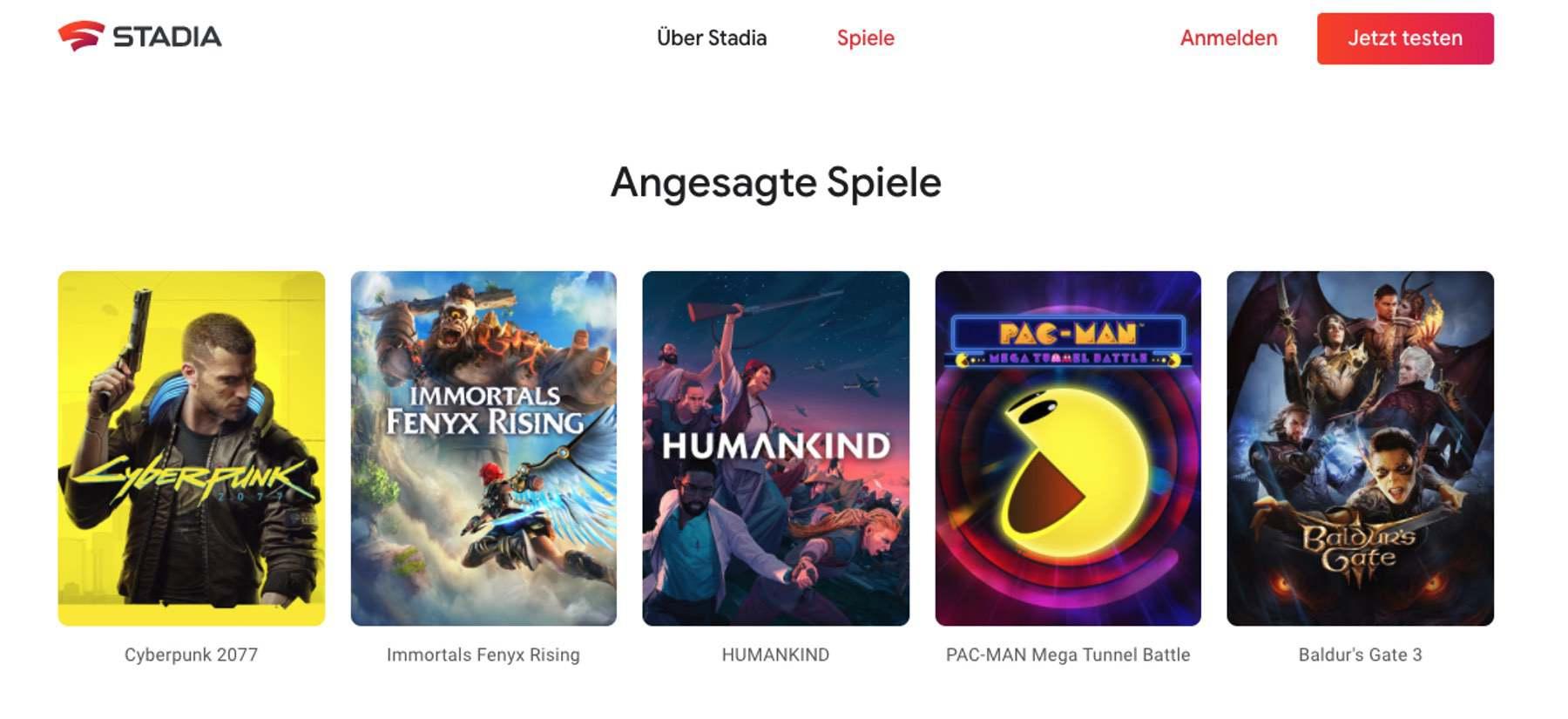 Diese Spiele kannst du mit Google Stadia spielen