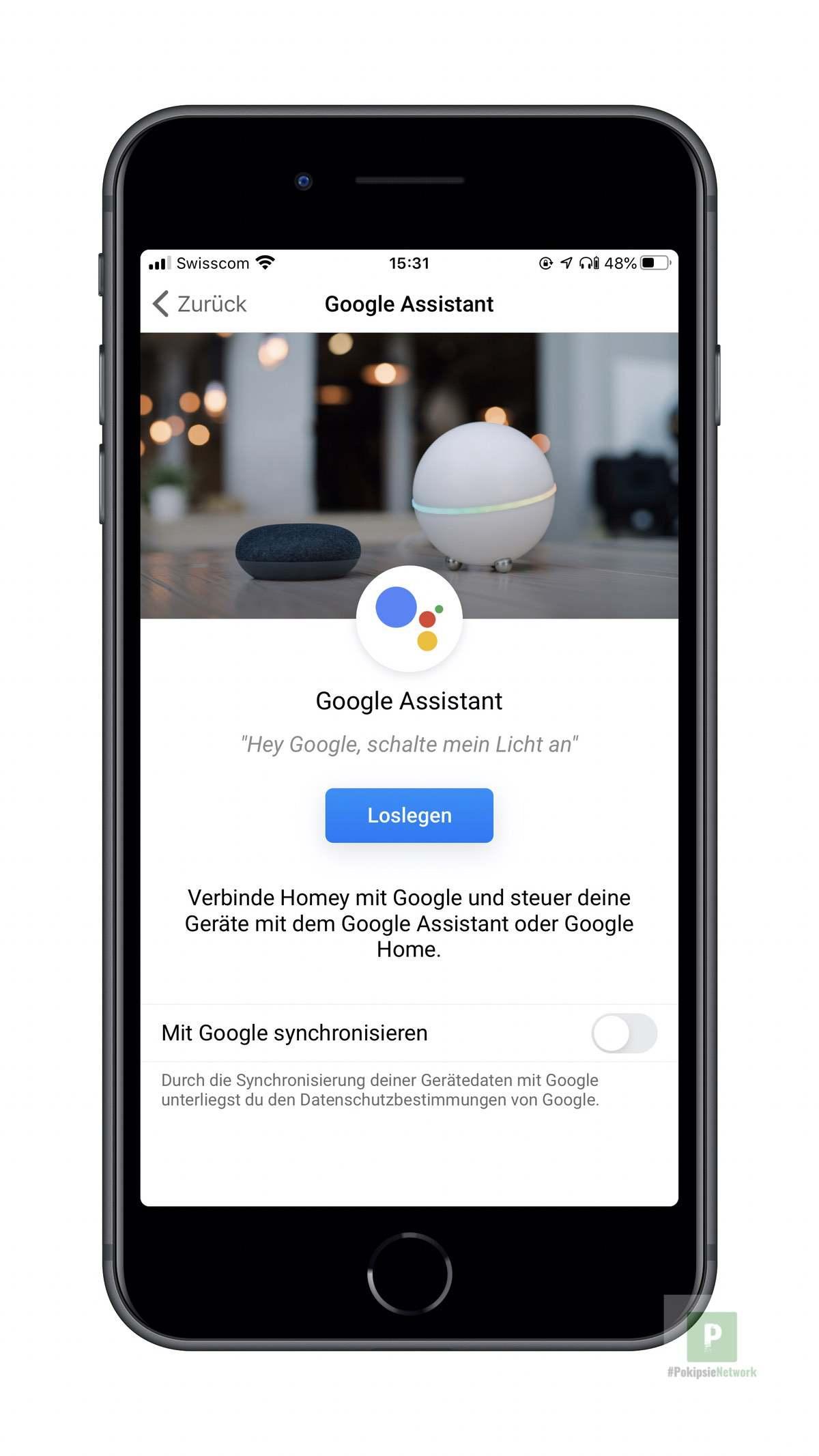 Google Assistent einbinden